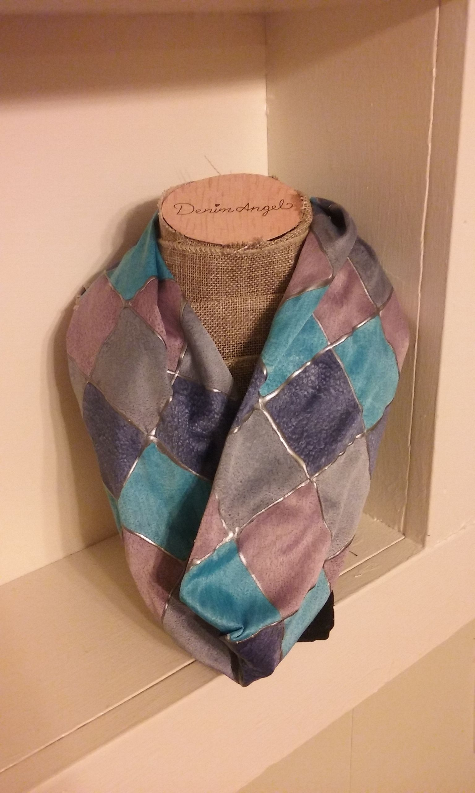 handmade fashion painting silk scarf accessory