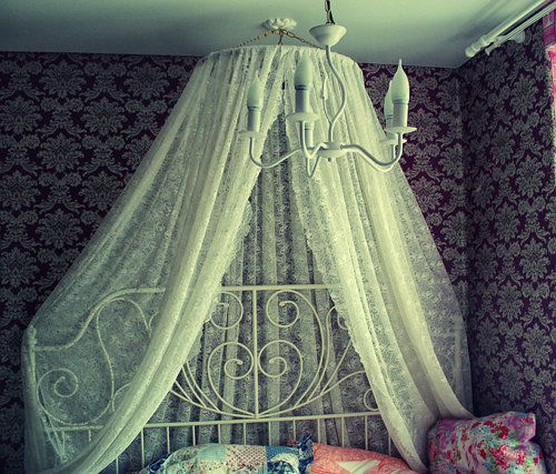 fabric decorating bed make canopy