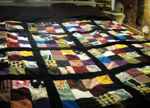 make patchwork tie fabric blanket quilt