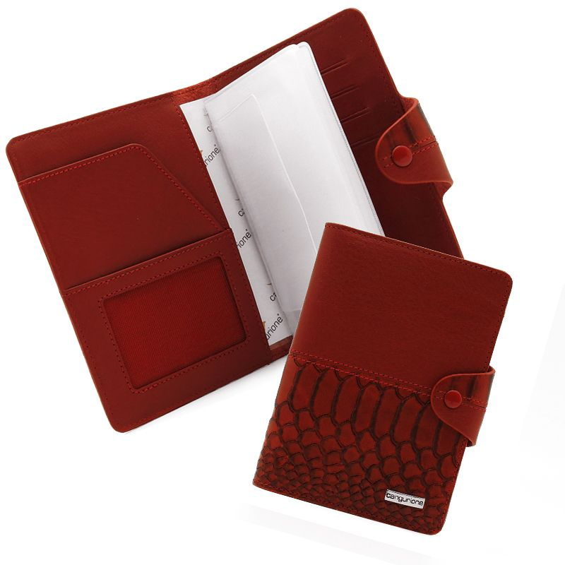 cover accessories leather crocodile red handmade