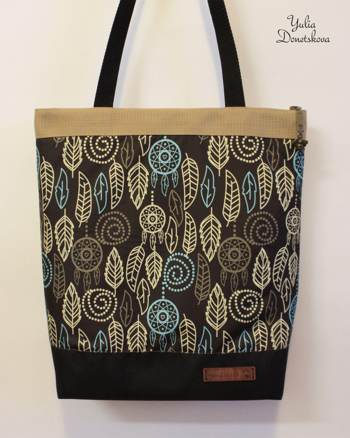 handmade travel gift bag leaves