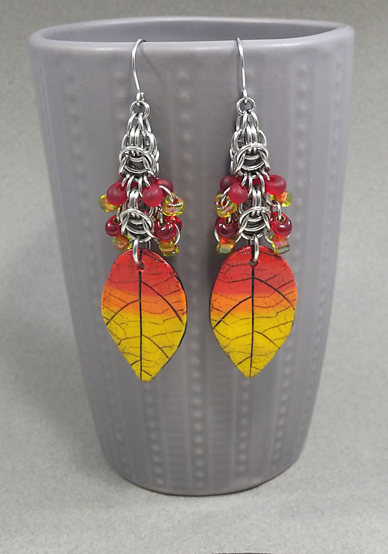 giftgorher festije fallcolors leaf artisanmade harvest fall leaves earrings jewelry thanksgiving