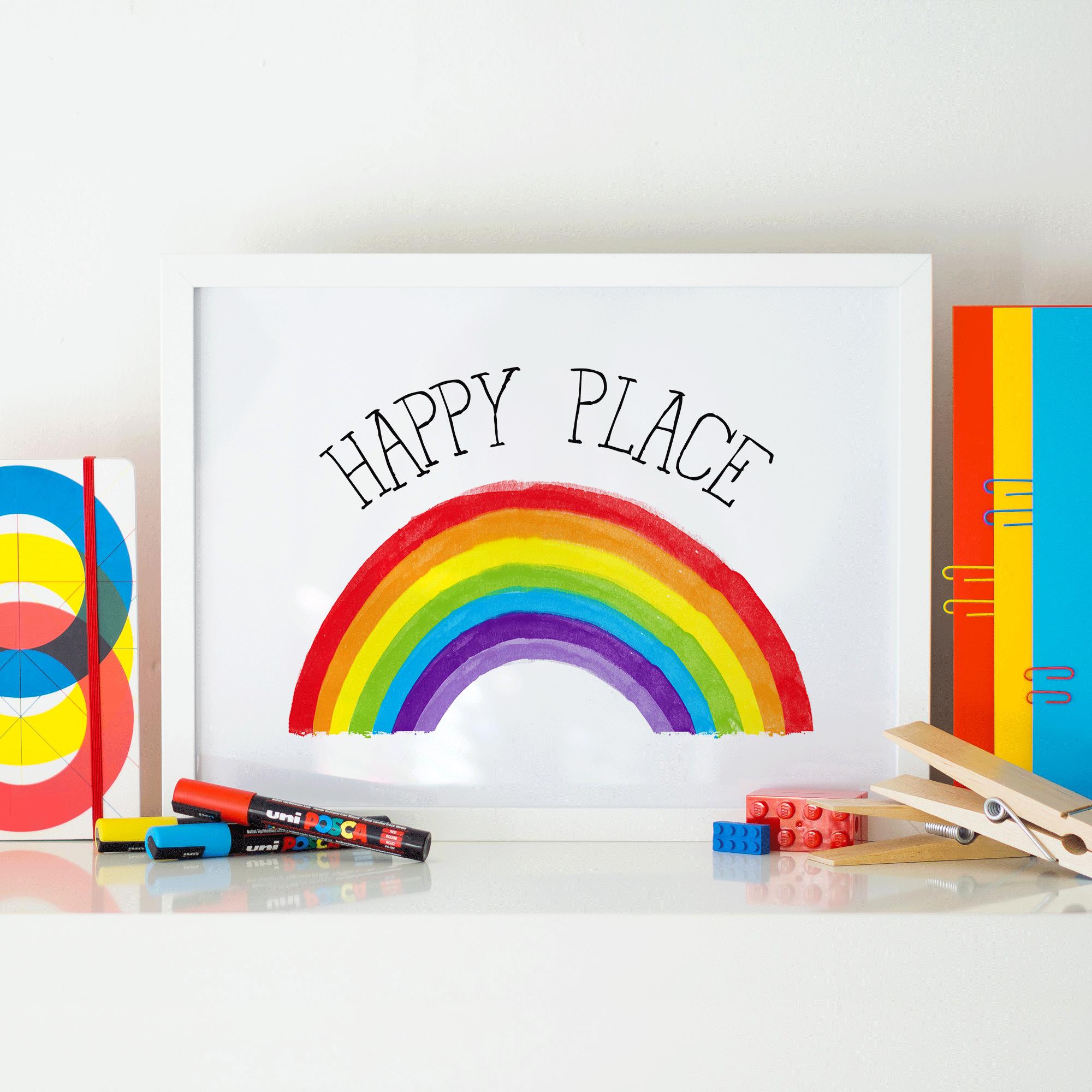 decor baby wall rainbow nursery kids prints artwork room art