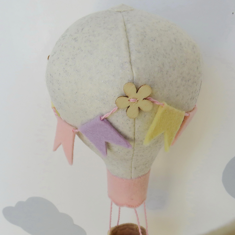 toy felt mobile elephant decoration baby crib gift balloon newborn customized nursery pastel