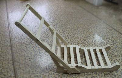 wooden handicrafts sled material make