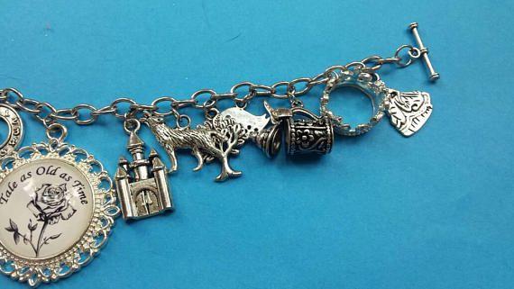 time fandom charm and tale beast old beauty jewelry bracelet the