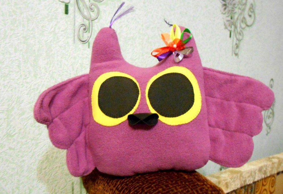toy gift customized handmade originalgift owl flower