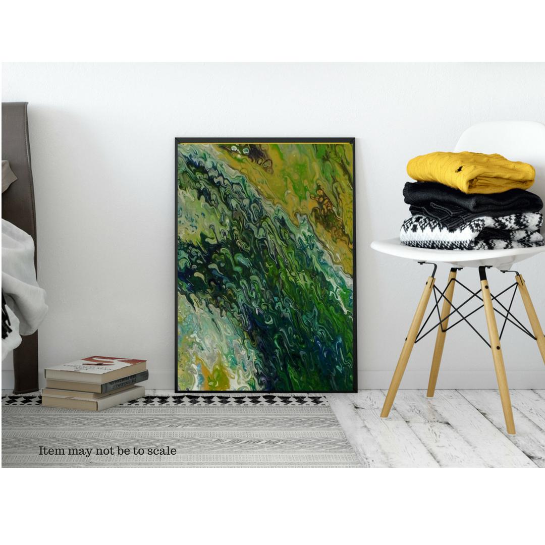 wallart gennhaio largepainting modernart acrylicpour