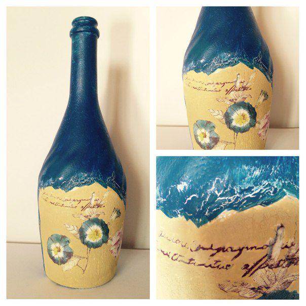 decor acrylic interior blue bottle