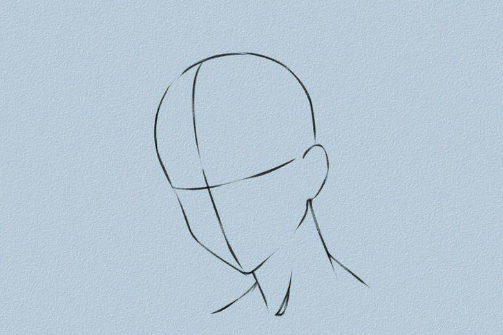 anime hair female male draw