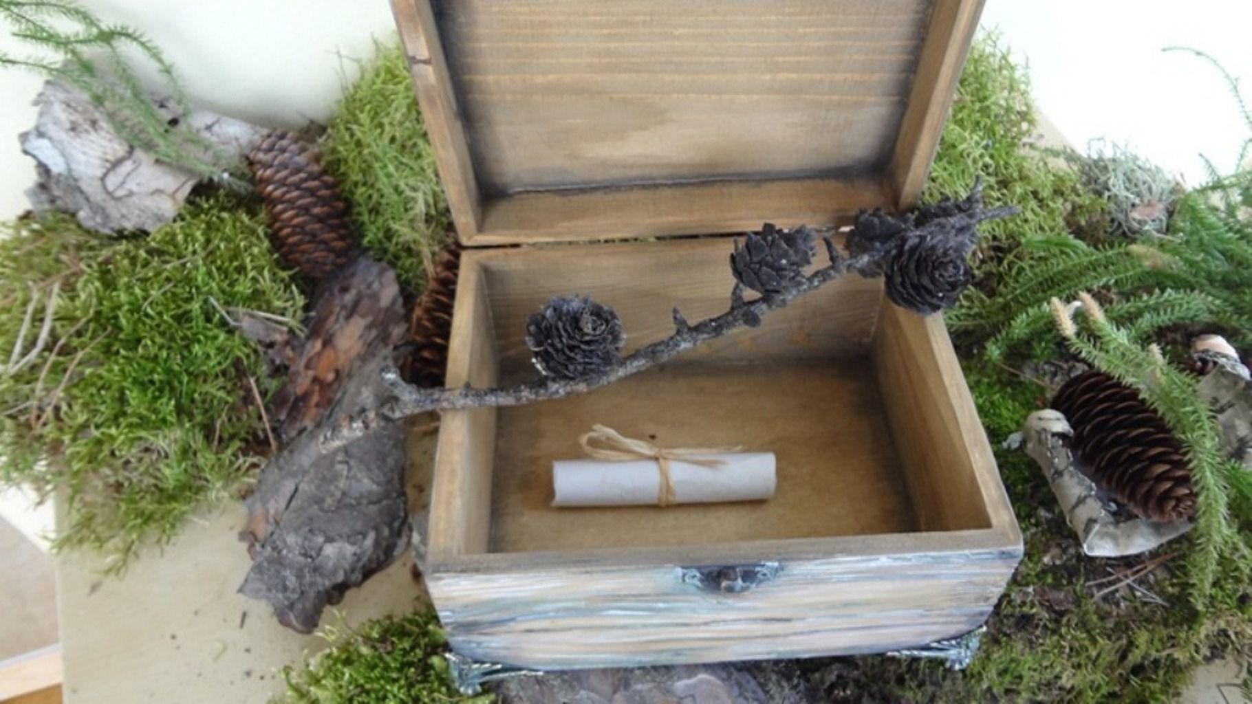 casket old women men handmade wood imitation