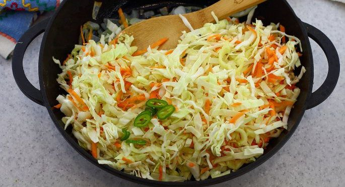 cookery fried cabbage cook ingredients recipe