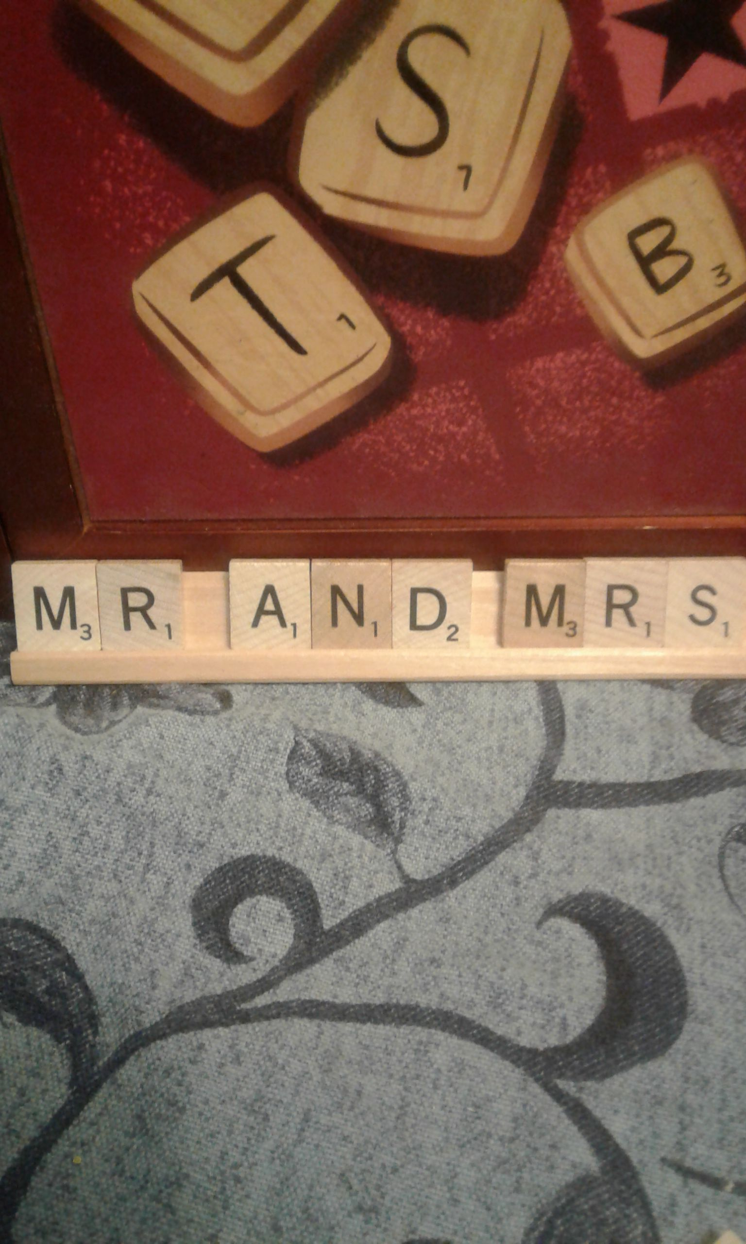 wedding art decor and table decorations mrs sign scrabble tiles personalized scrabbe sweetheart
