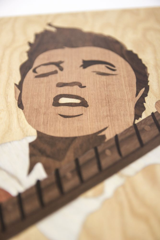 singer elvis fanart celebrity famous marquetry wood love