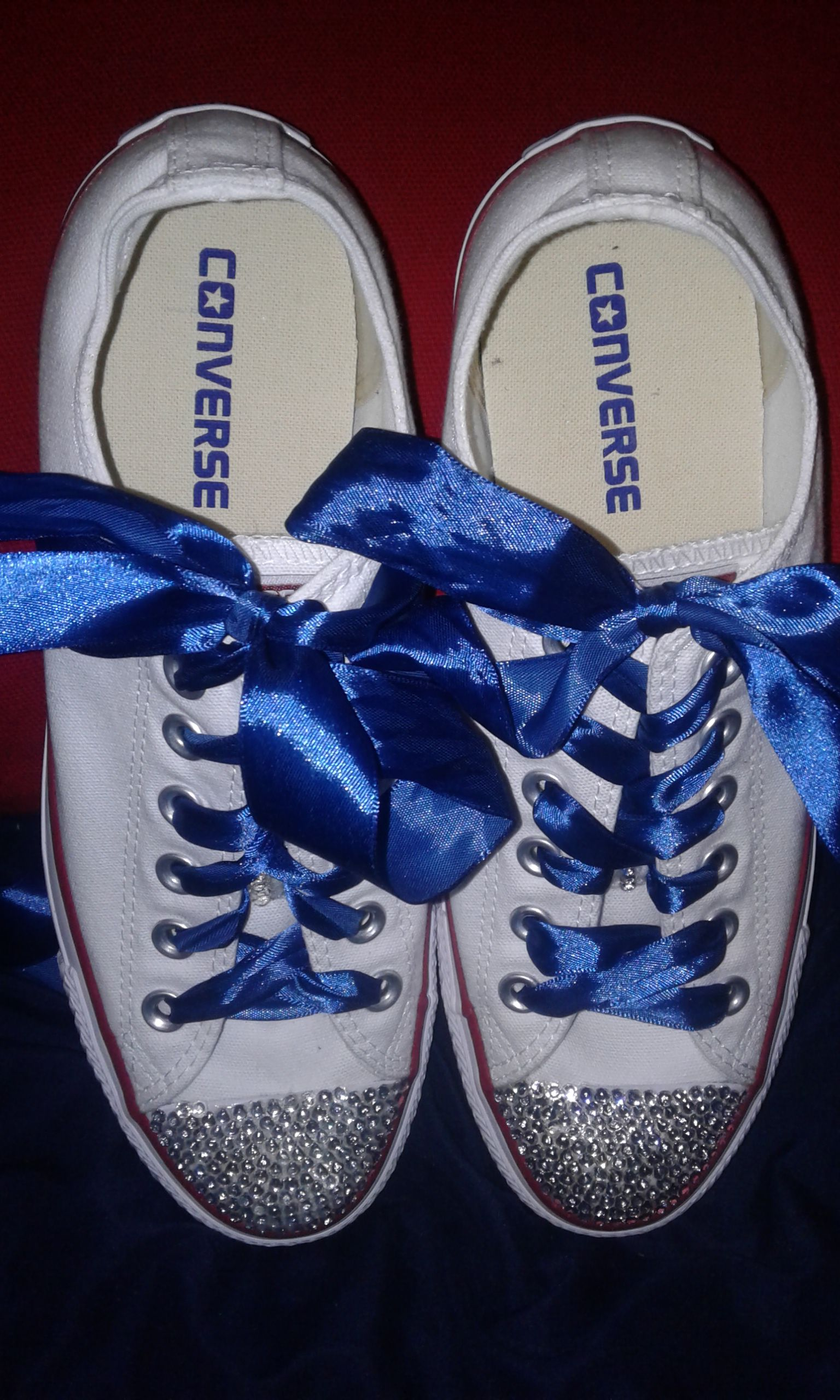 blinged bling out shoes sneakers converse tennis wedding taylors chuck party