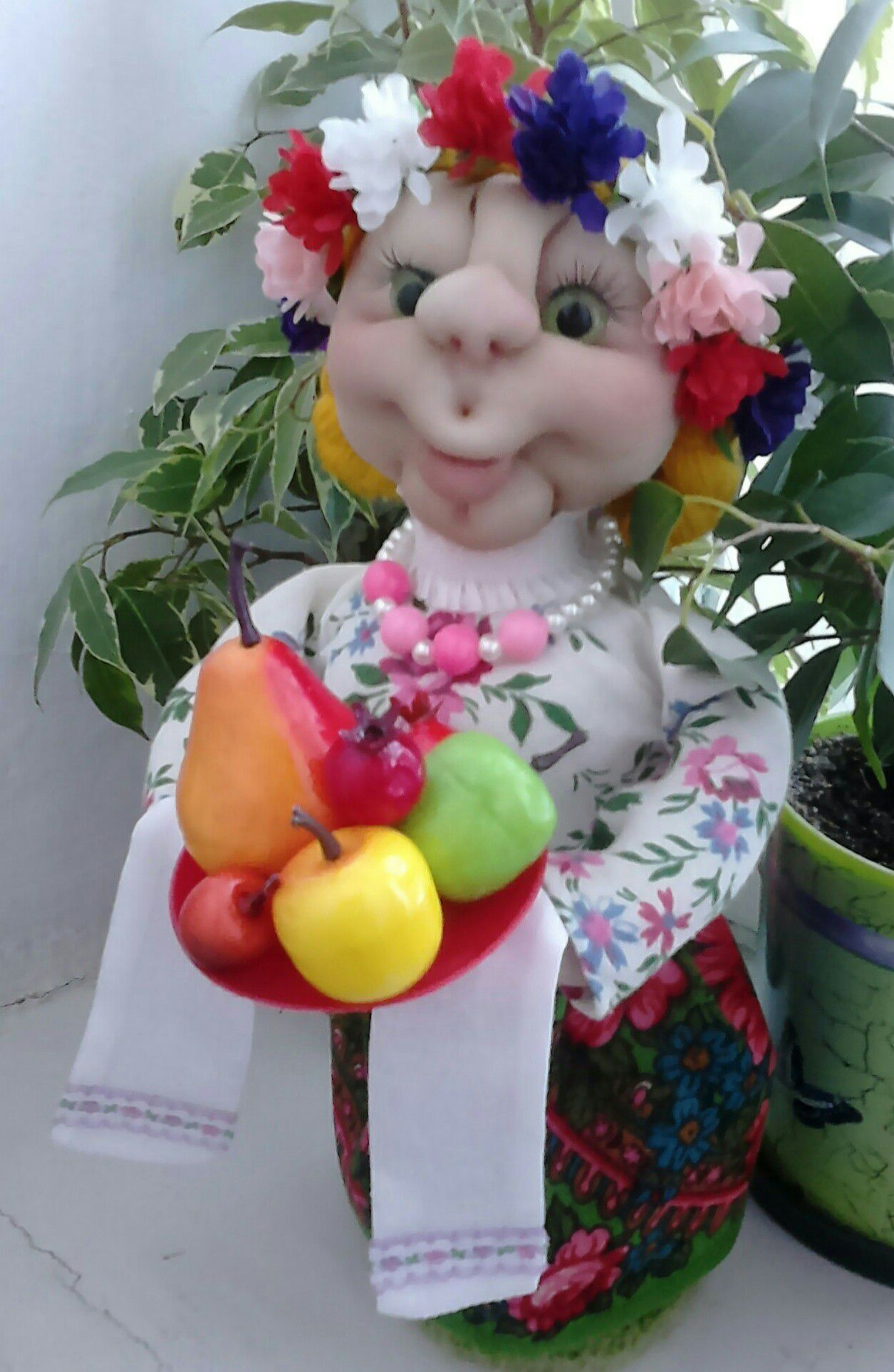 toy doll handmade kapron talisman