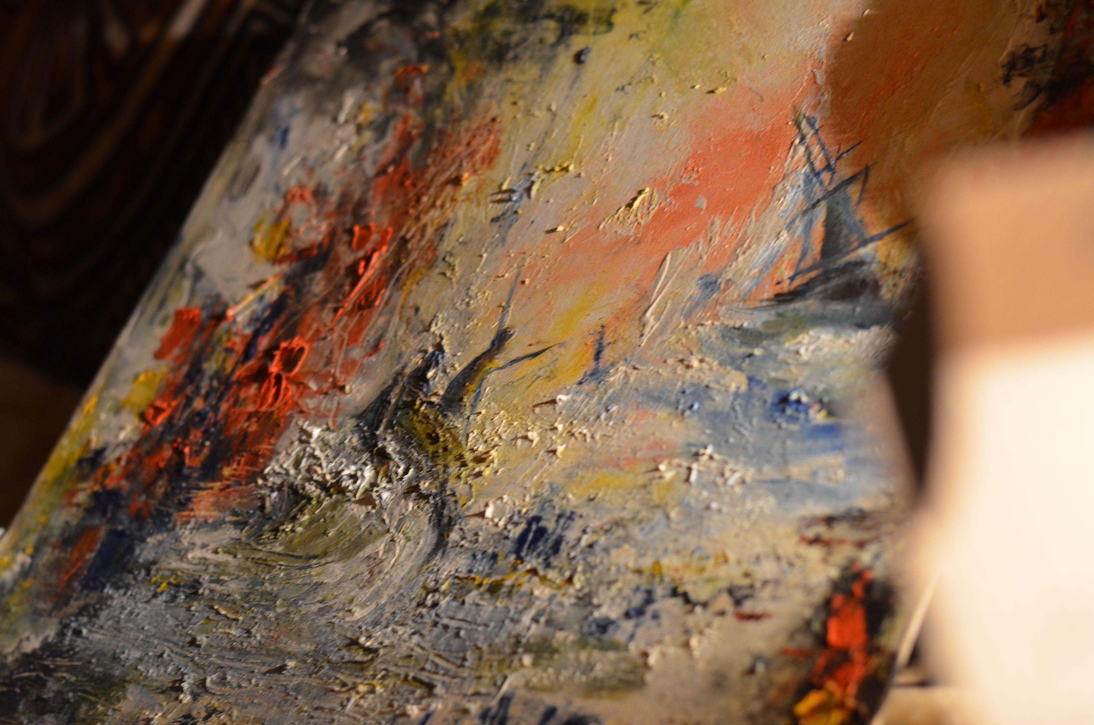 landscape oil sea canvas painting art