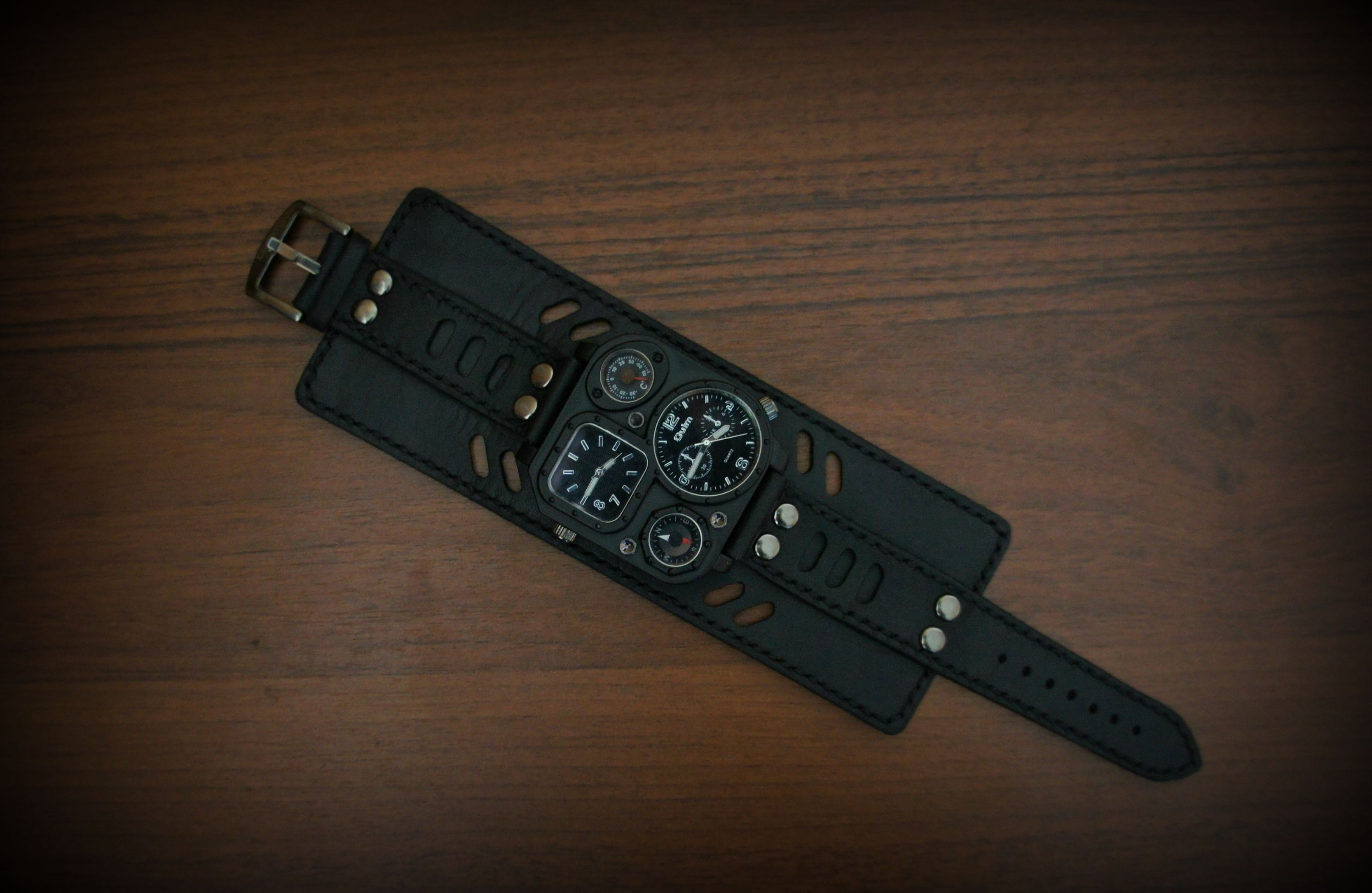leather japanese man watch