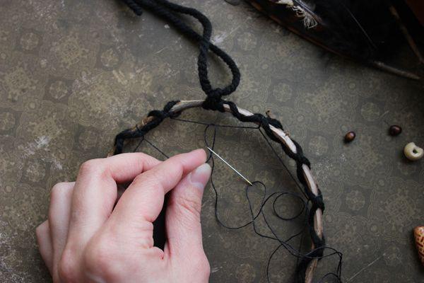 accessories make dreamcatcher amulet hoop