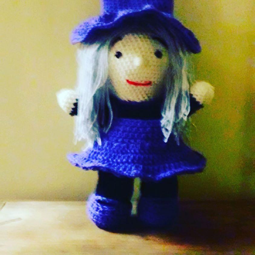 amigurumi witch doll gift halloween handmade crocheted plush