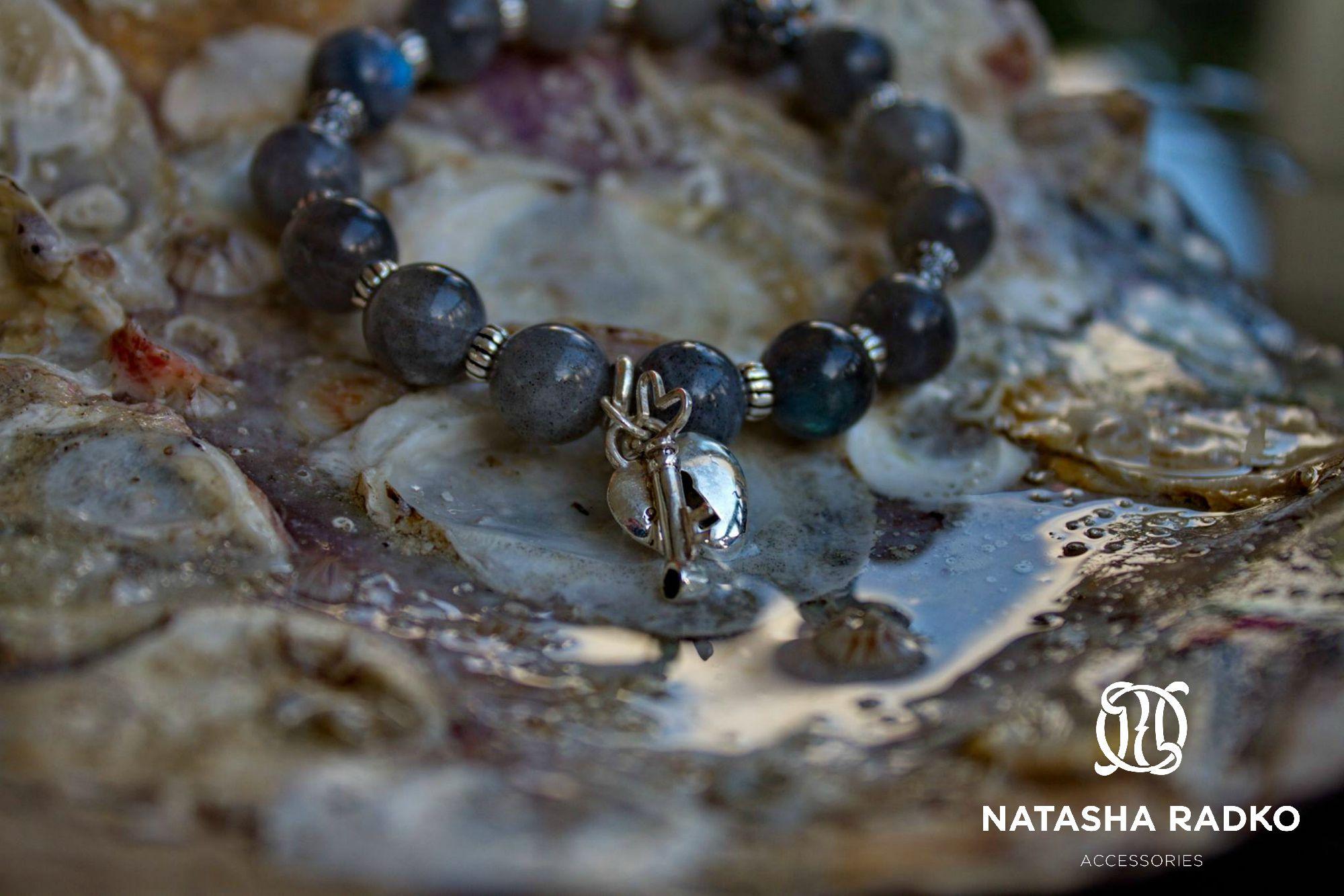 wristlet present silver labradorite jewelry
