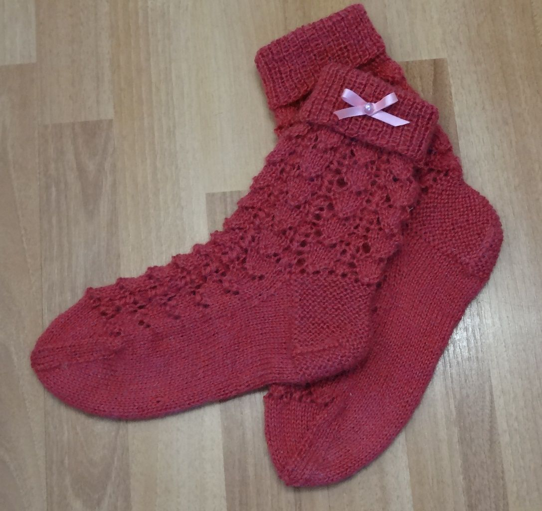 gift elven knitted socks