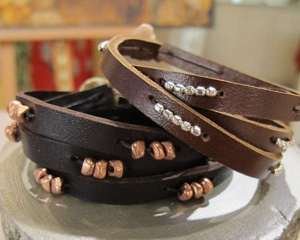 leather decorating glue bracelets gradually