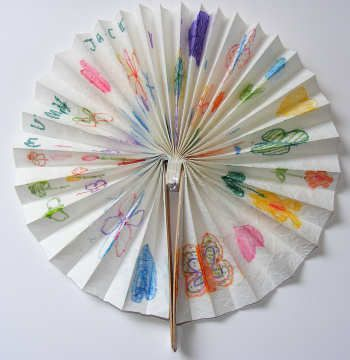 crafts summer fan paper make