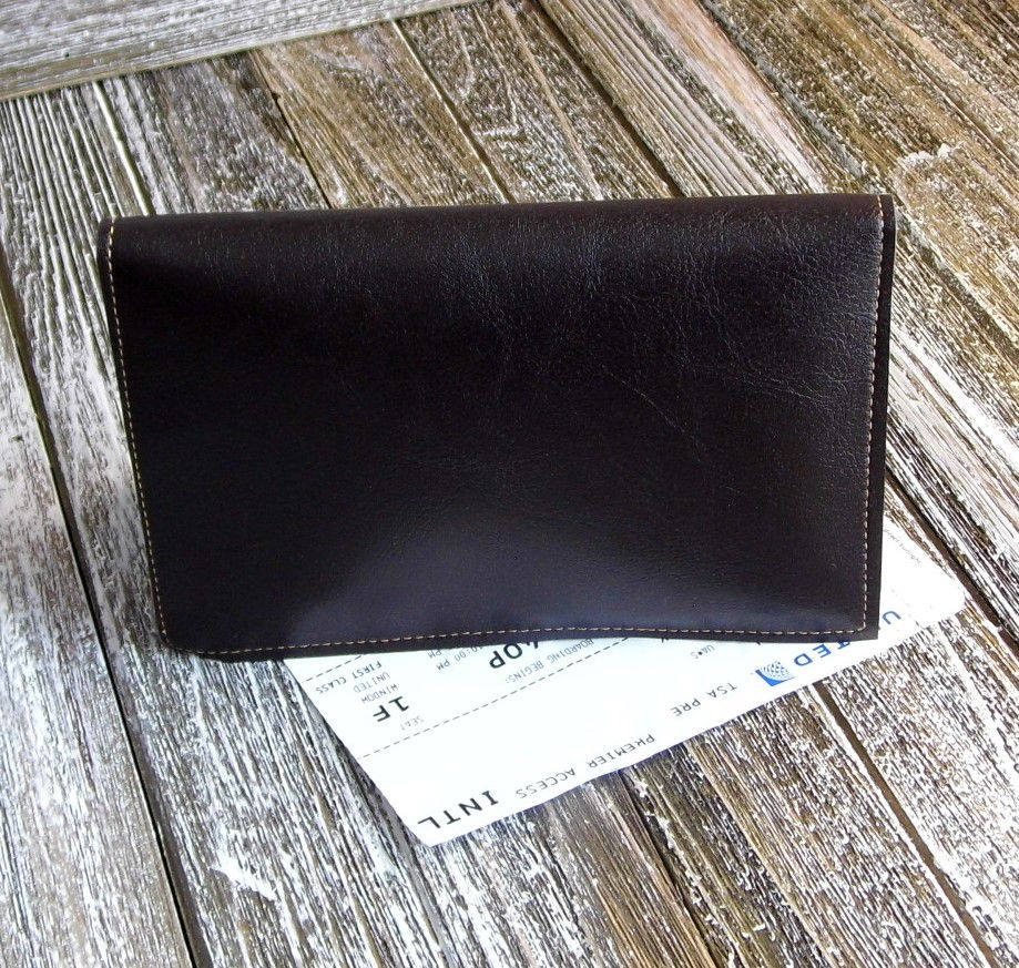 etsy travelwallet yellowcork giftidea veganwallet bifold gennhaio passportholder