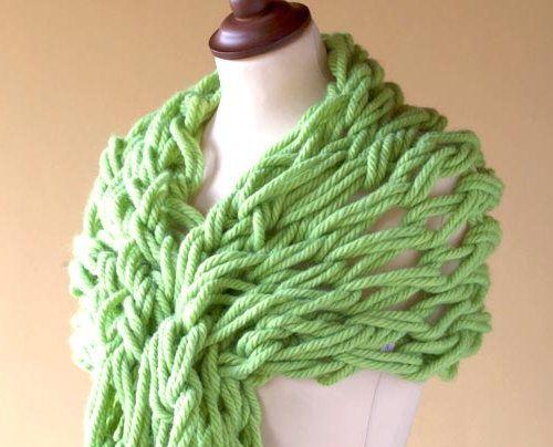 textile scarf arm knit goods