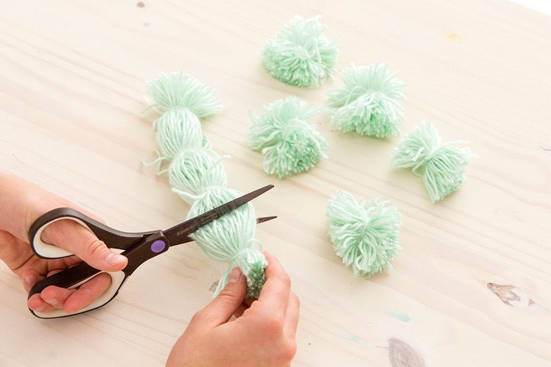 decor gift interrior cute wall hanging pom design