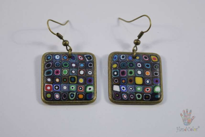 tradition accessories fashion portuguese klimt gustav original handcraft jewelry jewellery beauty handmade polymer clay bijouterie square