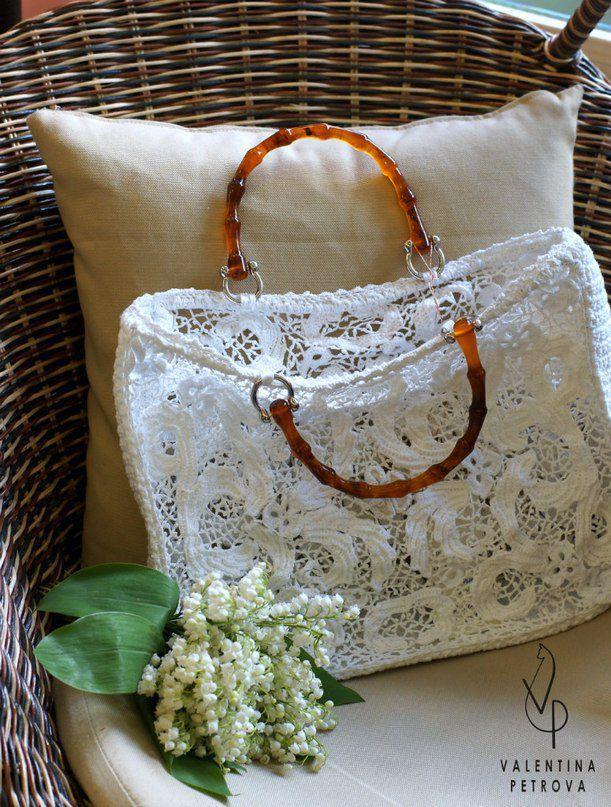 handmade unique luxury bag lacy
