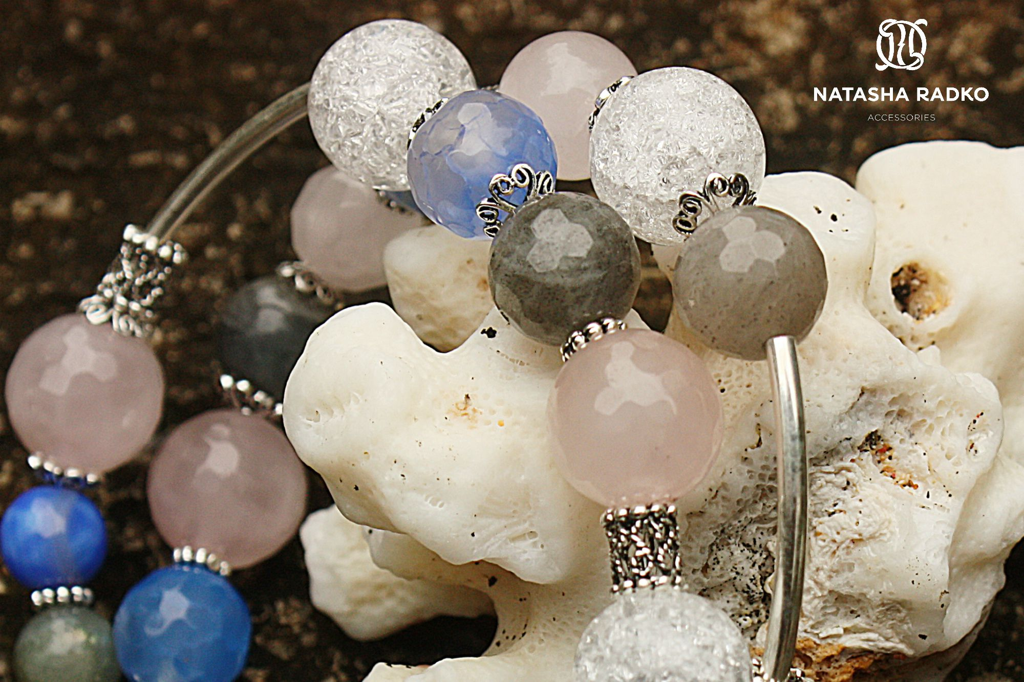 wristlet agate quartz labradorite jewelry