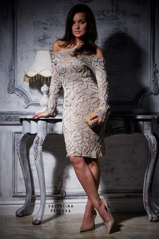 luxury unique decor silk dress handmade