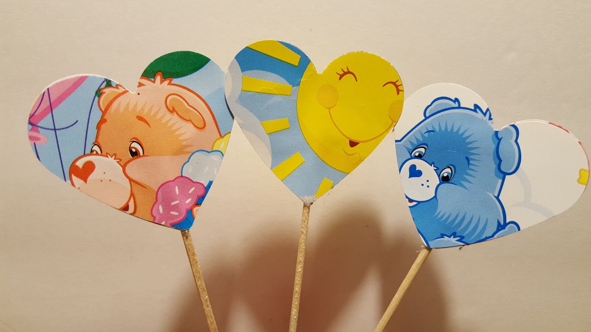 birthday cupcake toppers bears baby cake vintage care carebears decorations ideas shower party