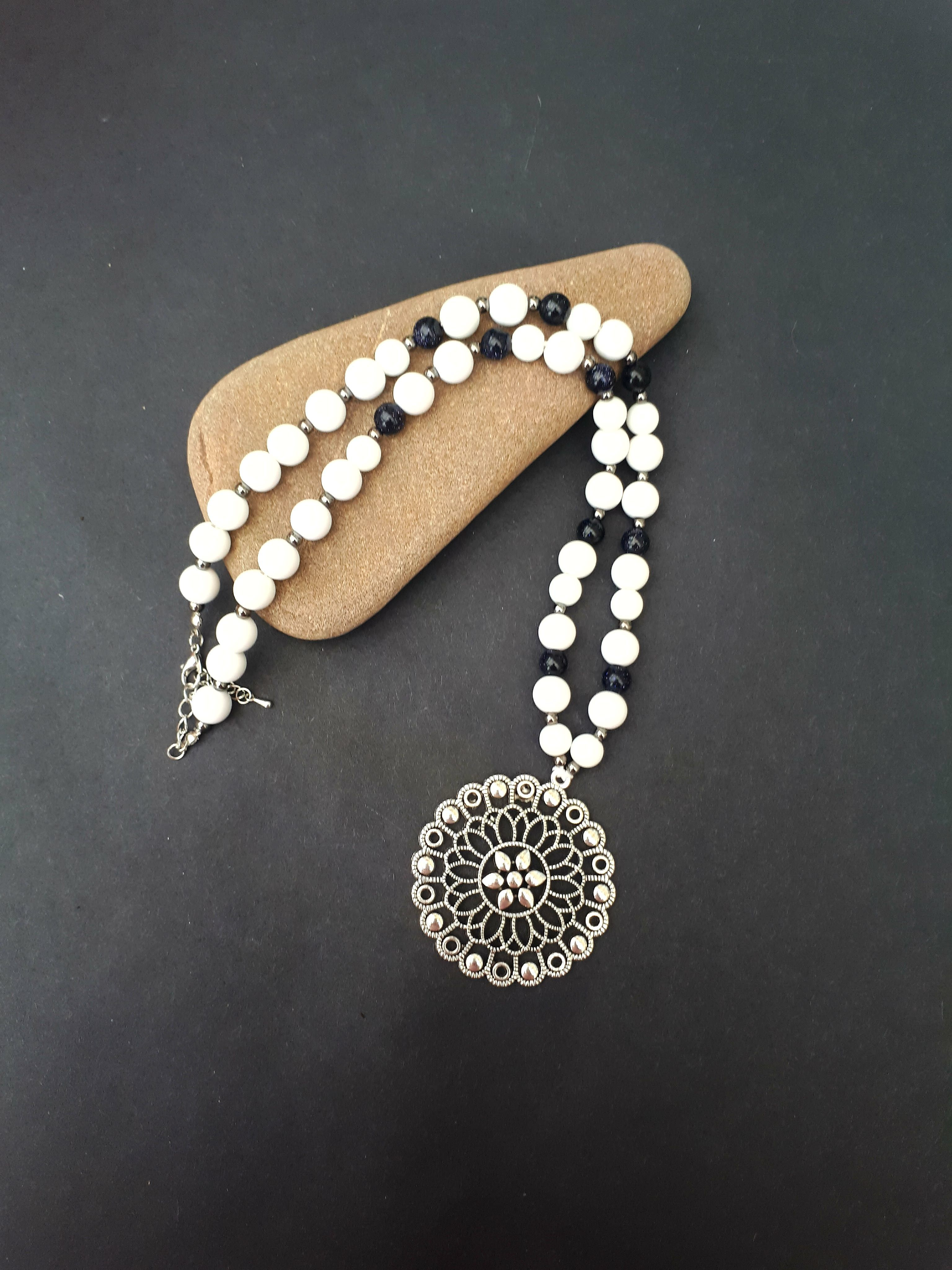 women white handmade necklace