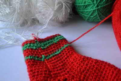goods crochet textile stocking christmas