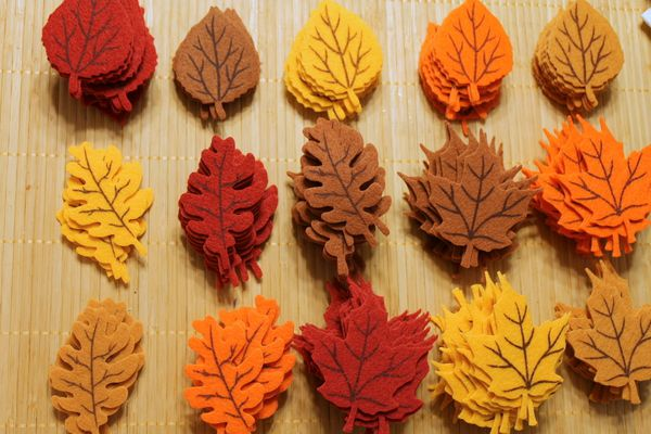 autumn garland sewing fall leaves handmade