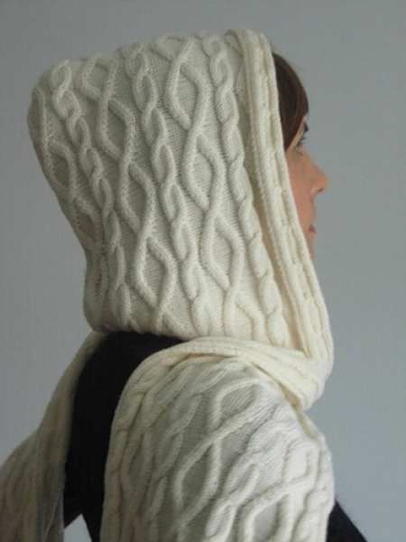 hooded goods textile crochet scarf
