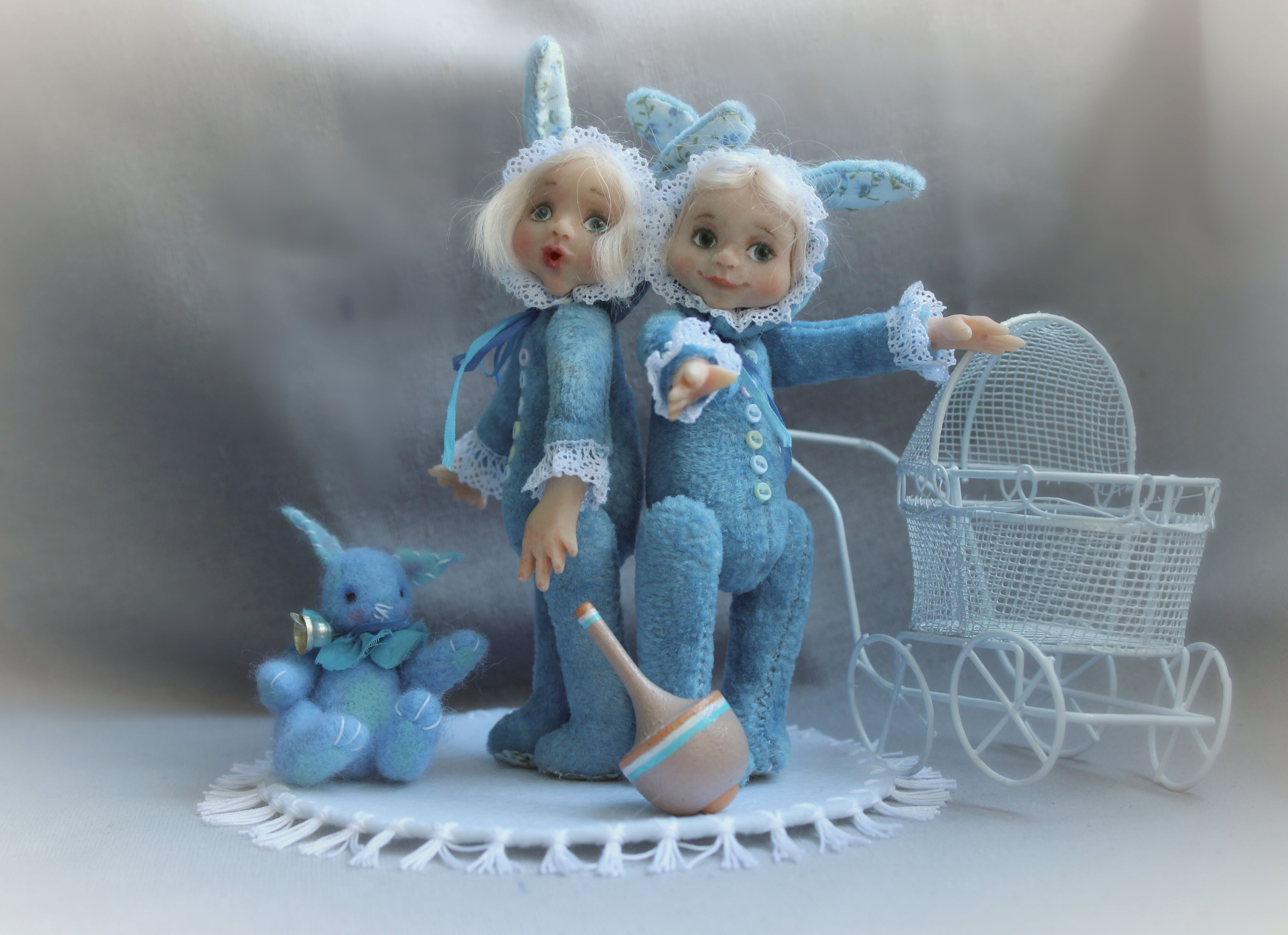 toy doll gift hire blue sweet