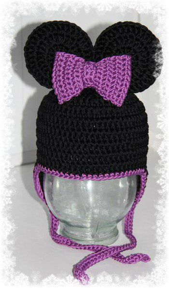 knitted hat children minnimouse