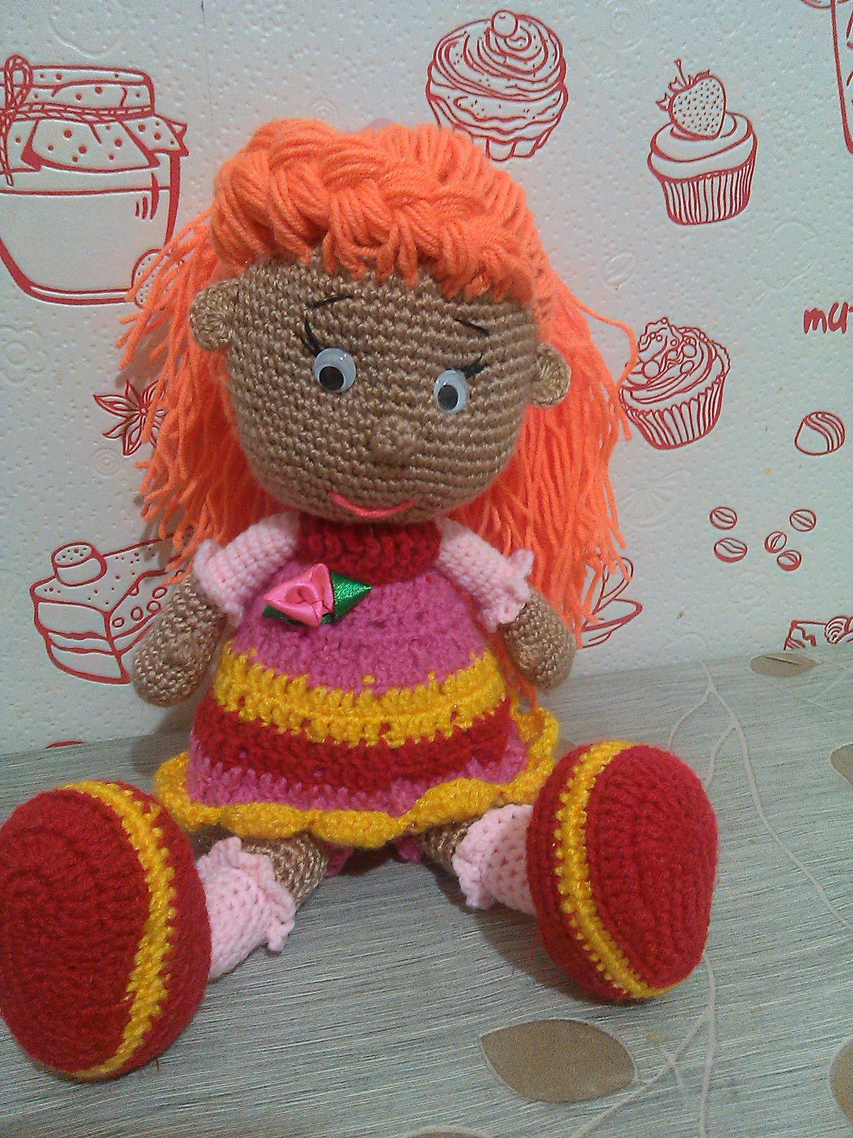 knitted doll handmade katty