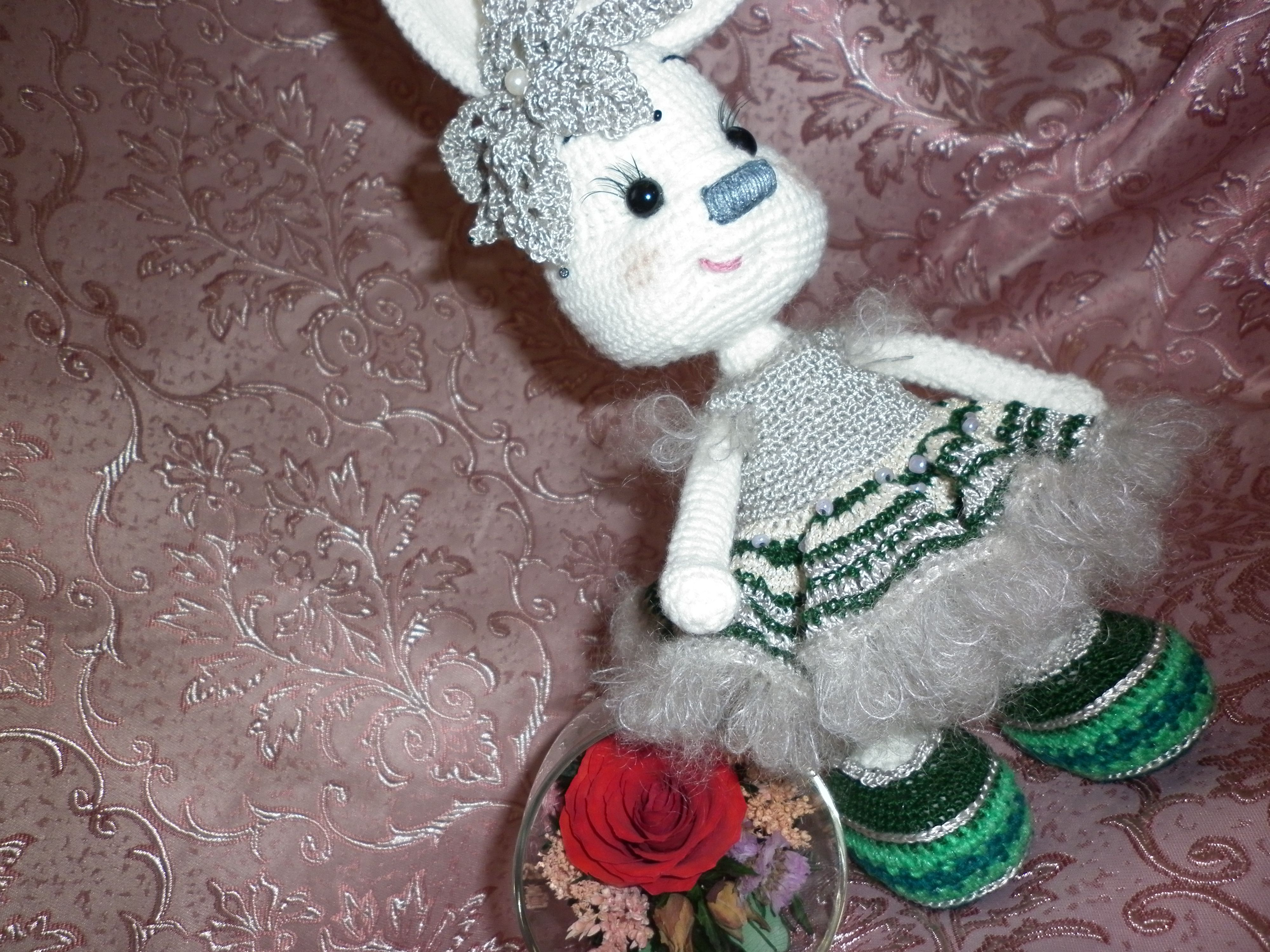 toy interior bunny kids knitting