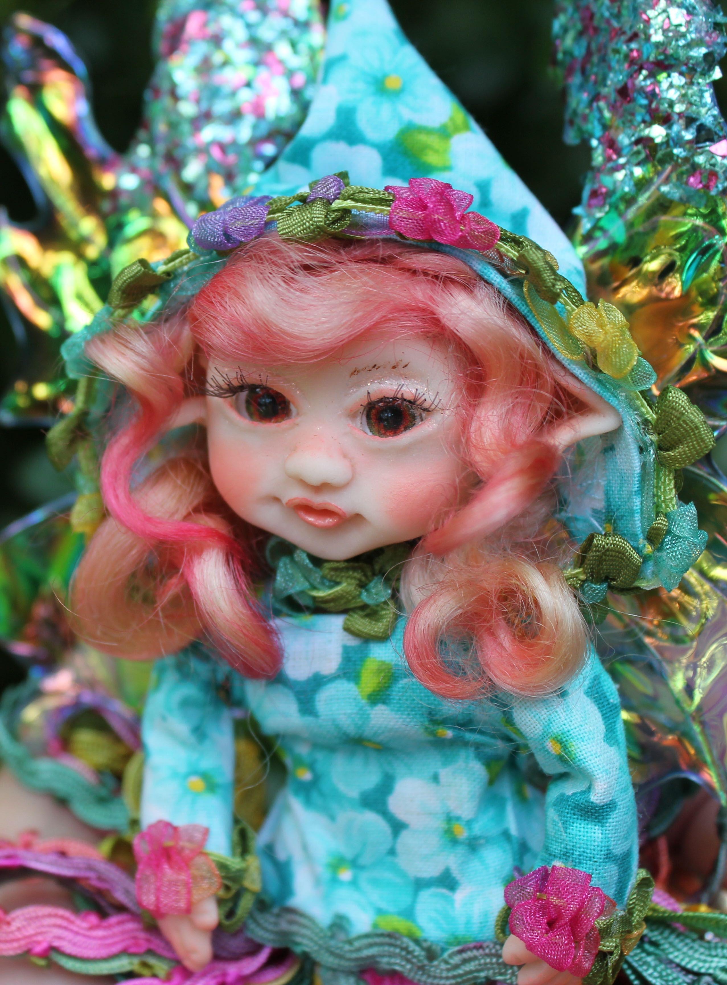 fantasy doll decor fairy fairies polymer clay shelf art