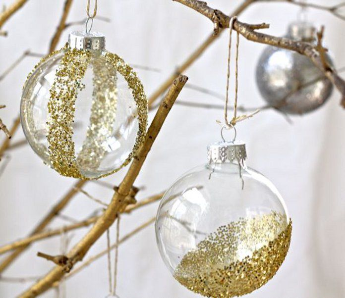 glitter christmasball merrychristmas christmastree creativedea winter holiday decoration transparent glue diy
