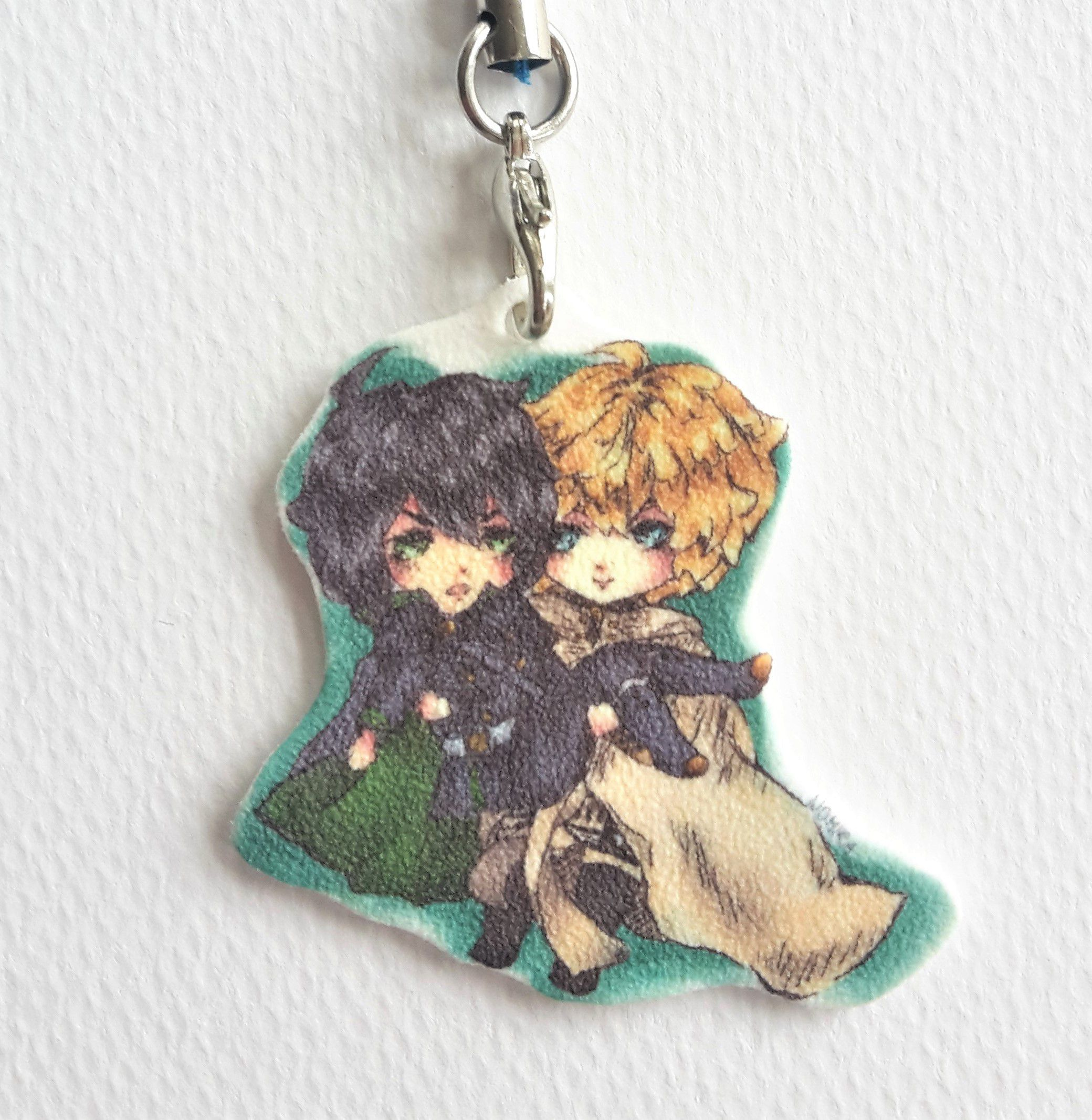 art cute charm keychain small anime manga adorable fanart