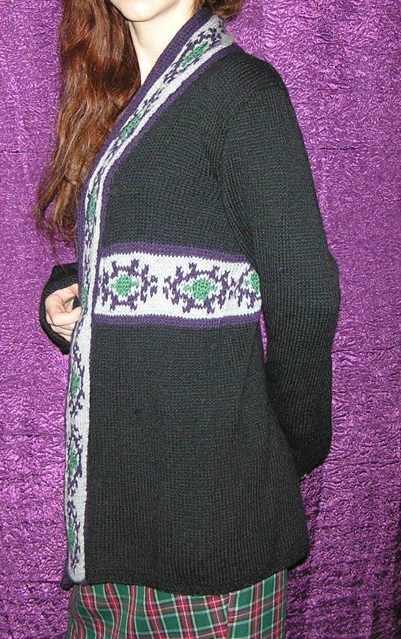 clothes knitting black jacket winter