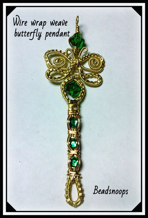 pendant jewelry beadsnoops wirewrapweave