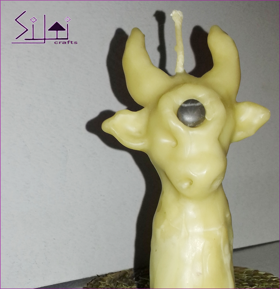 handsculpted cow beeswax witchcandle symbolicgift symbolic wishingstone bull spiritanimal hornhead horned cowcandle taurus witchy sculpted